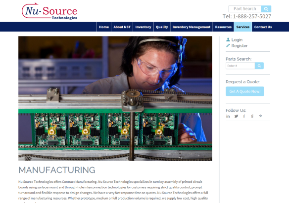 Nu Source Technologies offers Contract Manufacturing