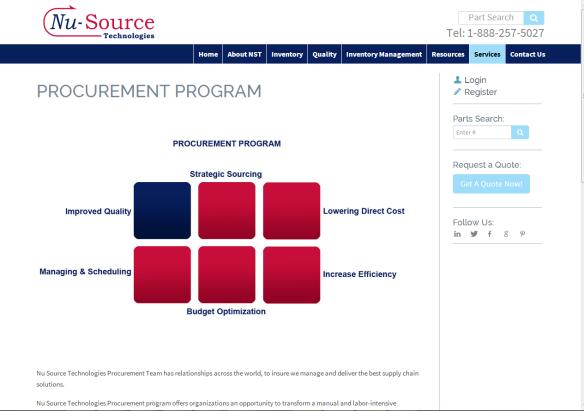 Nu Source Technologies Procurement Program